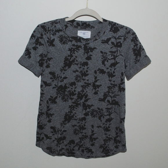 2f4dd8323 Sol Angeles Tops | X Anthropologie Grey Floral Top | Poshmark